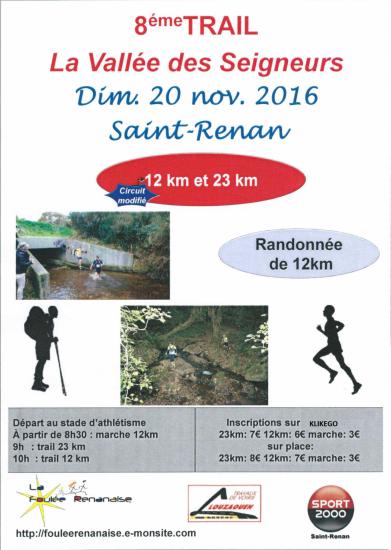 Affiche trail 2016